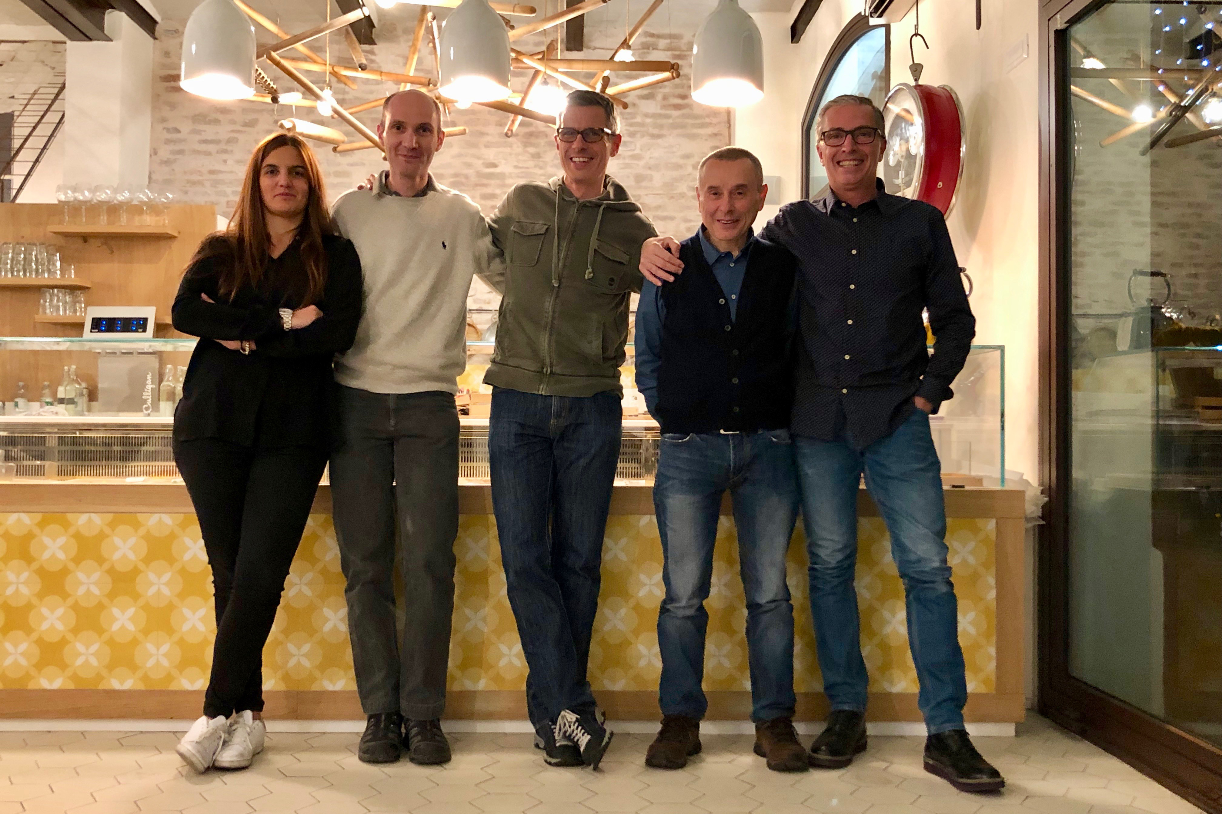 Da sinistra i Consiglieri Francesca Roni, Claudio Rastrelli e Giacomo Ori, il Vice Presidente Daniele Masetti e il Presidente Paolino Nobile.